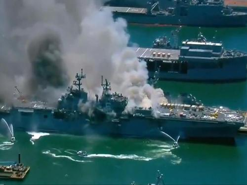 getInterUrl?uicrIvZQ=6ab759ad100977d6b1f232d51c7fca7e - Fear of what is coming, the United States is in a mess, the warship suddenly exploded, and many people were injured at the scene