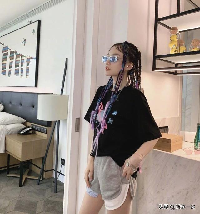 getInterUrl?uicrIvZQ=e6b962f8342ce143848ab1fb9d642cf3 - Li Xiaolu has no psychological knowledge to compound the rumors, drying colorful dirty braids + hip-hop style, seeing the effect is absolutely amazing