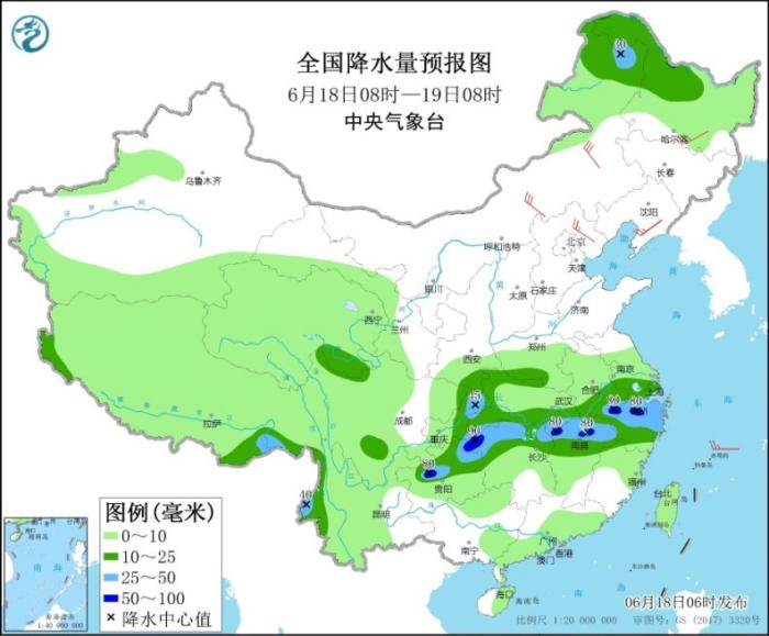 Heavy rainfall in Chongqing, Guizhou, Jiangnan and other places, cold vortices continue to affect Northeast China