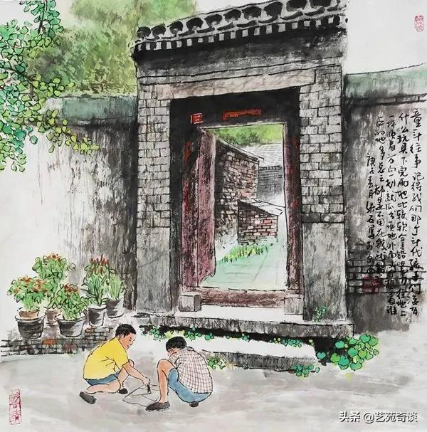 getInterUrl?uicrIvZQ=0b0966f5675b11408403d2d1b258d7b4 - He painted the childhood of those born in the 70s and 80s, and the pictures are touching. Netizens:I can't go back.