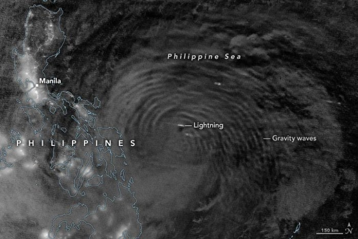 """Super Typhoon Shuriji """"crashes"""" the Pacific Ocean, peripheral circulation affects the Philippines and tens of thousands of people evacuate(1)"""