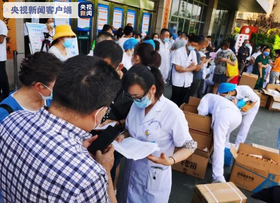 The reporter hits straight! Nucleic acid test for all employees in Jiangning District, Nanjing this morning(1)