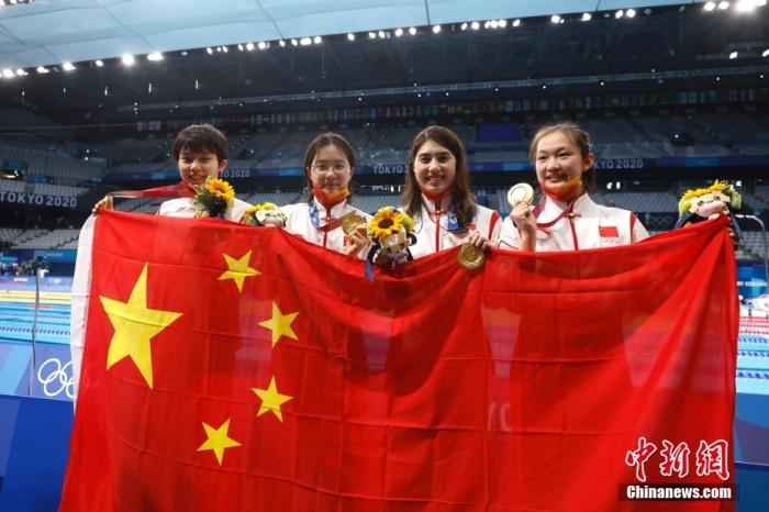 Break the world record! China won the Olympic swimming relay gold medal for the first time!