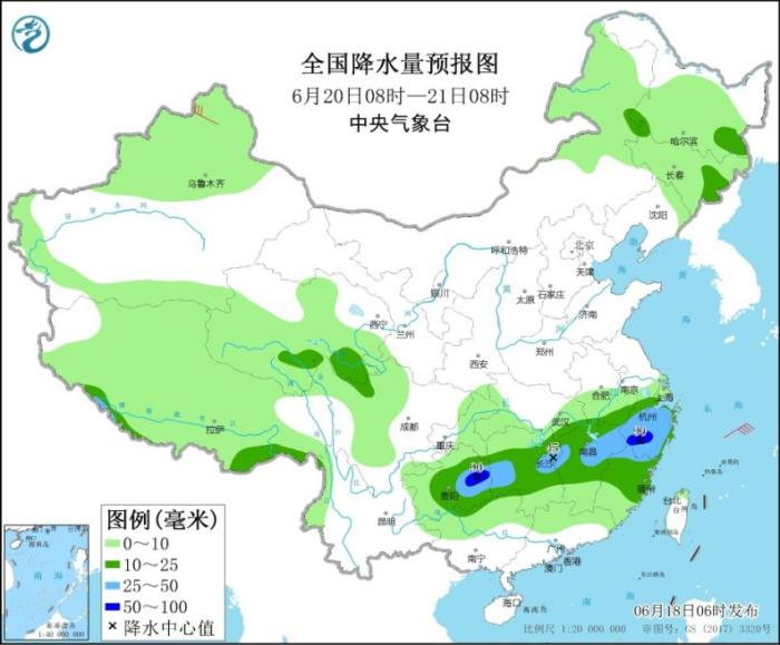Heavy rainfall in Chongqing, Guizhou, Jiangnan and other places, cold vortices continue to affect Northeast China(2)