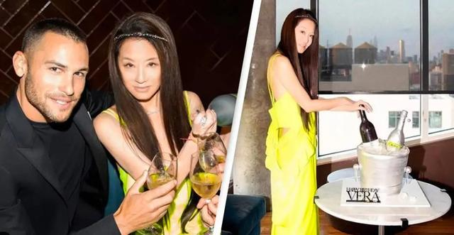 getInterUrl?uicrIvZQ=30039ed02229d9a3dbd964989efdeacc - 72-year-old Wang Weiwei and 36-year-old boyfriend are in the same frame, with elegant long hair and online appearance, and the yellow suspender skirt is eye-catching