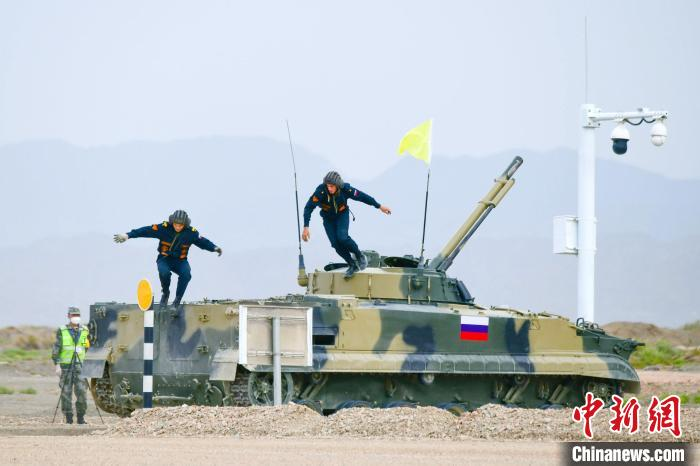 """The second round of the """"International Military Competition-2021"""" """"Suvorov Assault"""" Cycling Race(1)"""