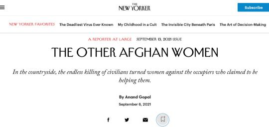 This article about Afghanistan and the Taliban is incredible!