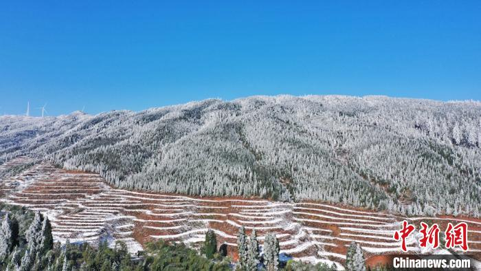 Sichuan Gulin: Beautiful mountain snow scene under the cold wave(4)