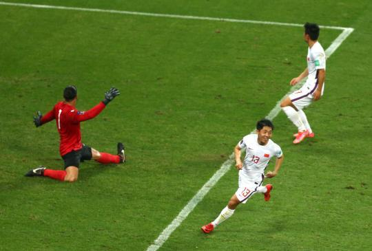 World Preliminary 40 Finals: National Football 7-0 victory over Guam(12)
