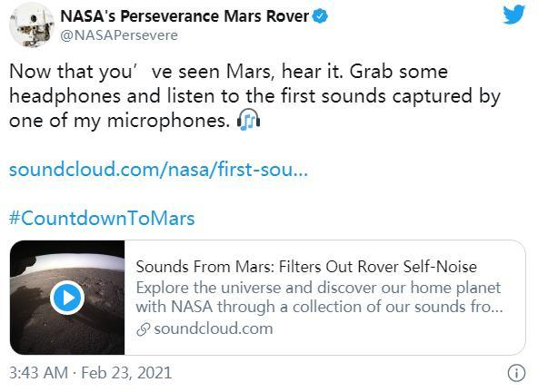 """NASA announces new video of Perseverance, invites you to listen to the """"sounds"""" of Mars (photo)(2)"""