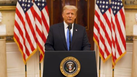 getInterUrl?uicrIvZQ=5931cc4dc7b4c6fbb6d66efd0937a1aa - Trump gives his farewell speech:condemning congressional riots and wishing the new government success
