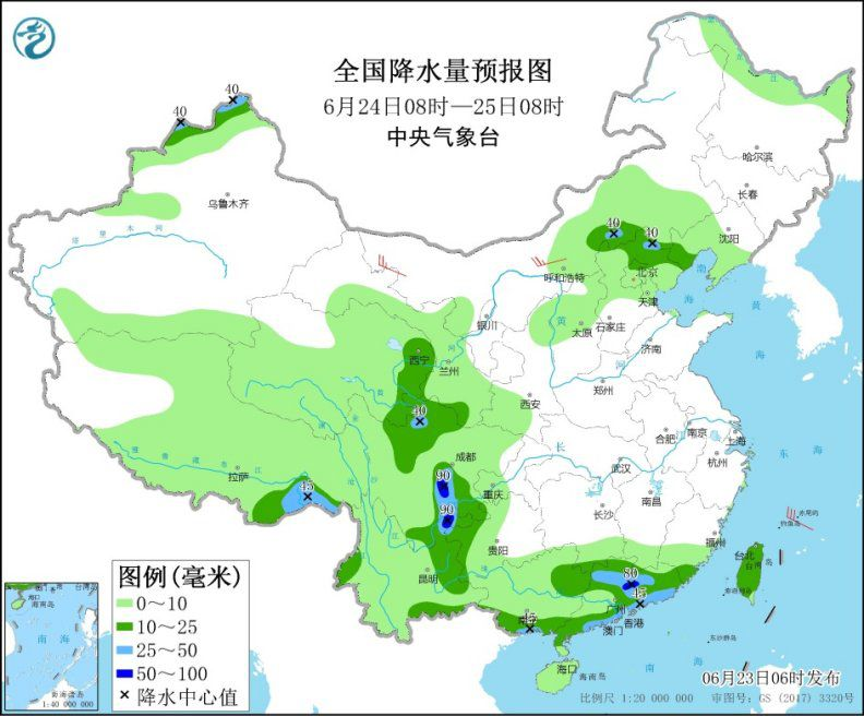 Stronger precipitation in southern China and other places with thunderstorms in northern China and other places(1)