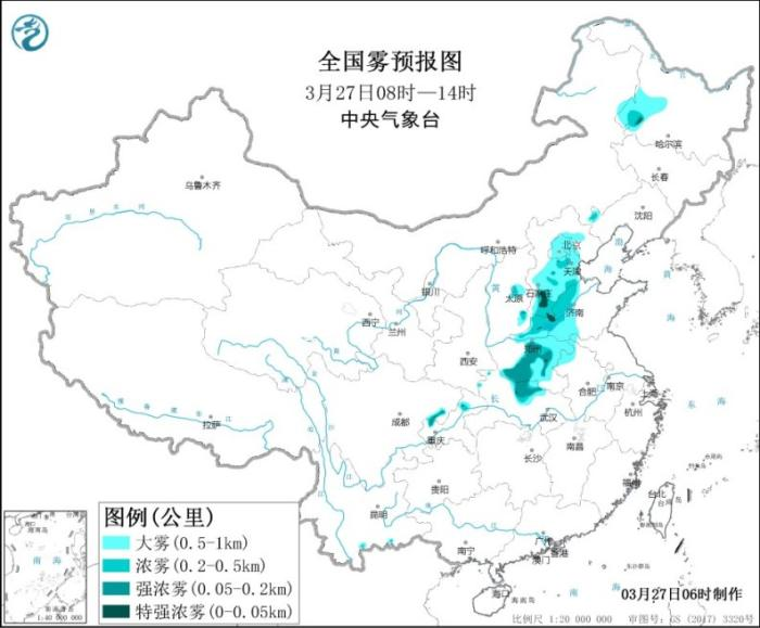 There will be sandstorms in the north, and there will be obvious precipitation processes in Jiangnan and other places.(1)