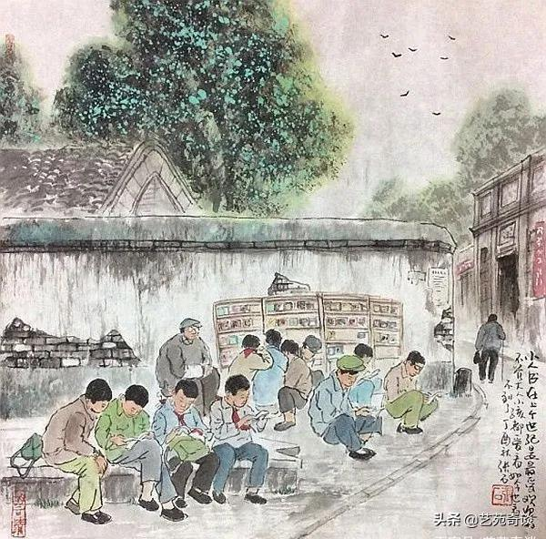 getInterUrl?uicrIvZQ=97945b7c0687af970a4a0f1cbc9f5bab - He painted the childhood of those born in the 70s and 80s, and the pictures are touching. Netizens:I can't go back.