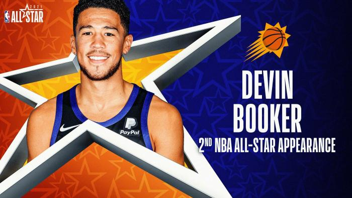Booker replaced Davis in the second All-Star career selection