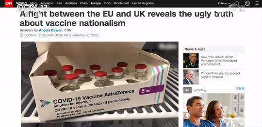 """""""Vaccine nationalism"""" is constantly playing out Can developing countries get vaccines """"fairly and reasonably""""?(10)"""