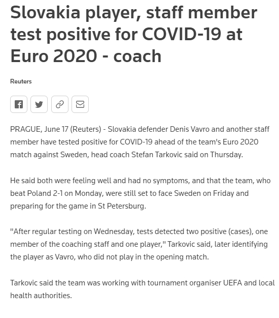 The first positive case in this European Cup, foreign media reveal that Slovakia defender has been recruited(1)
