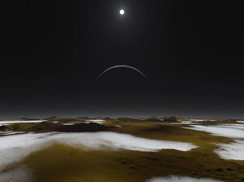 getInterUrl?uicrIvZQ=f10820a85cb66eefdcdce0047d90dcaa - If you could land on Pluto, what kind of world would you see? How big is the sun there?