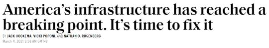 """The U.S. infrastructure level was rated as """"failed"""". This is the highest score in 20 years(9)"""