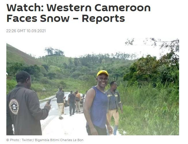 It's snowing in Cameroon, an African country close to the equator! People can hardly hide their excitement (photo)