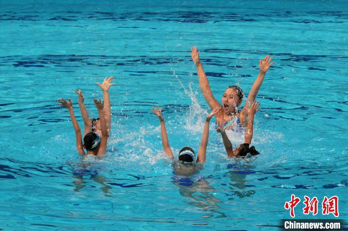 The 14th National Games Synchronized Swimming Test Competition was held in Xi'an